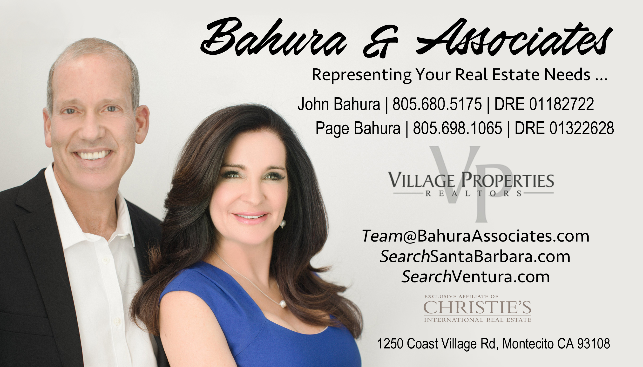 Business Card Front - Bahura & Associates 3.5x2in